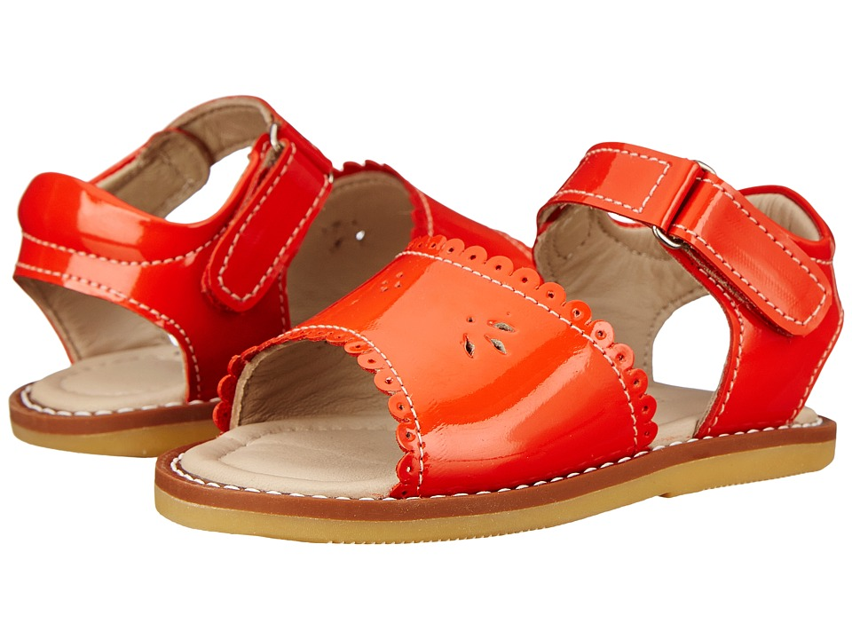 Elephantito - Classic Sandal w/Scallop (Toddler) (Poppy Red) Girls Shoes