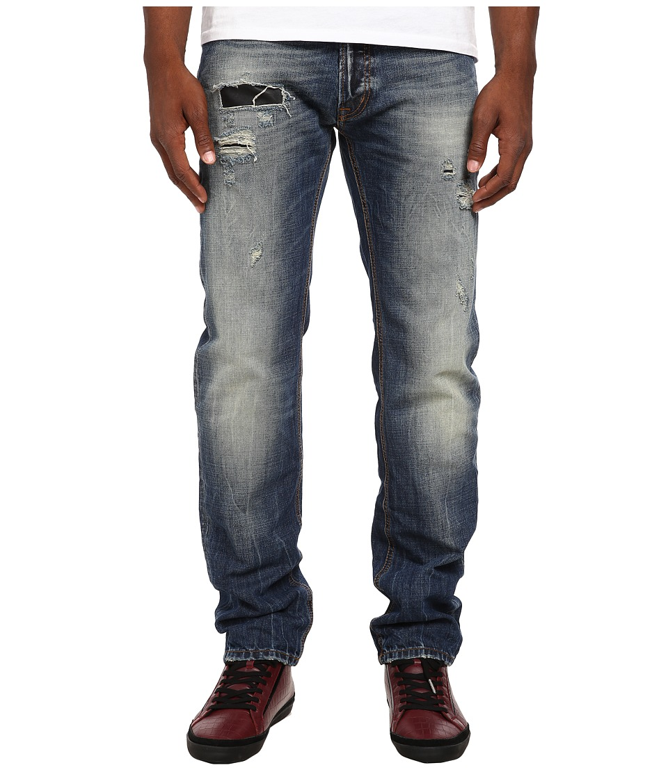 Just Cavalli - Vintage Skin Patch Regular Fit Denim (Blue Denim) Men