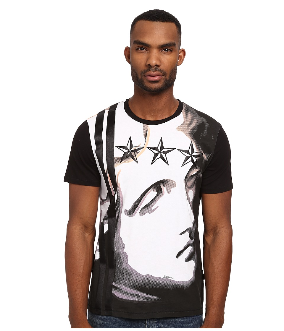 Just Cavalli - Liberty Crew Neck Tee (Black) Men's T Shirt