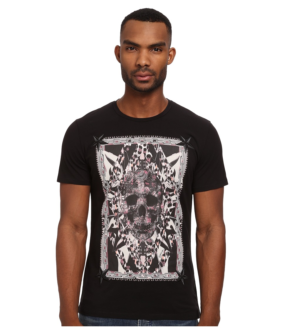 Just Cavalli - Skull Crew Neck Tee w/ Embellishment (White) Men