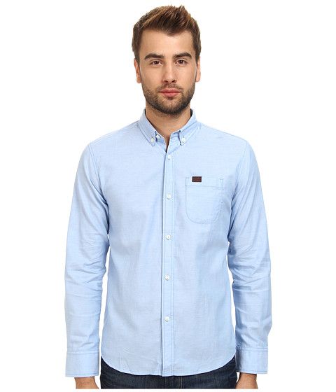 Marshall Artist - Yarn Dyed Oxford Shirt (Sky Blue) Men's Long Sleeve Button Up