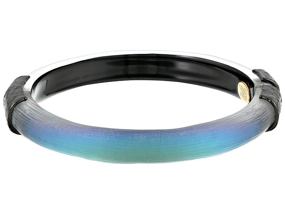 Alexis Bittar - Encased Lucite Hinged Bangle (Black Beetle) Bracelet