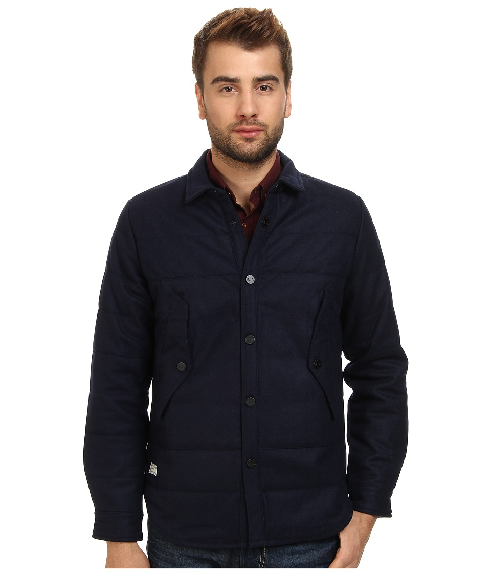 Marshall Artist - Thermal Wool Jacket (Dark Navy) Men's Jacket