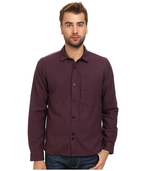 Marshall Artist - Lined Wool Shirt (Dark Claret Melange) Men