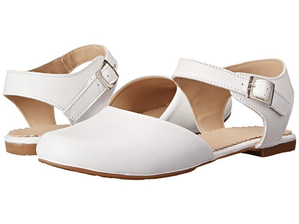 Elephantito - Elisa Flat (Toddler/Little Kid/Big Kid) (White) Girls Shoes