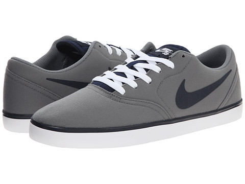 Nike SB - Check Canvas (Cool Grey/White/Dark Obsidian) Men