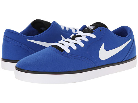 Nike SB - Check Canvas (Game Royal/Black/White 4) Men's Skate Shoes