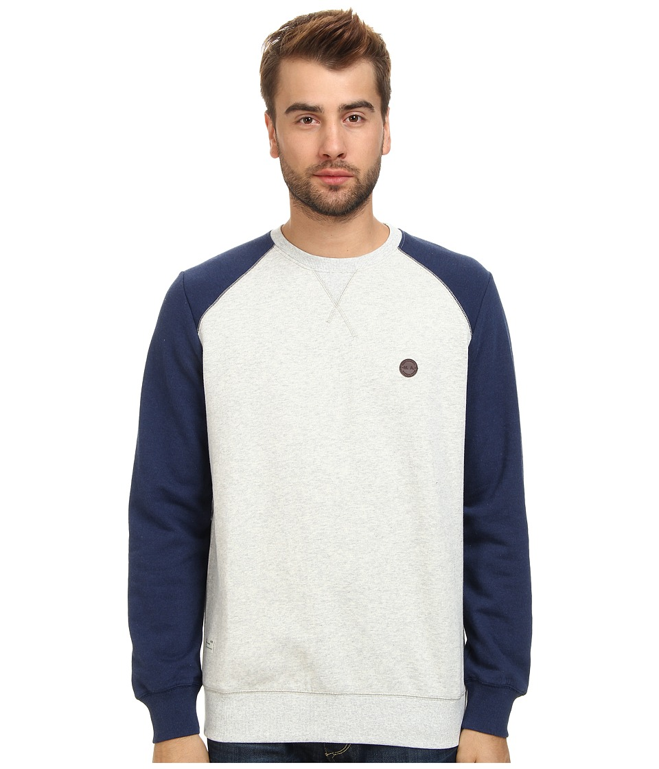 Marshall Artist - Two-Tone Sweatshirt (Grey Melange/Navy Melange) Men's Sweatshirt