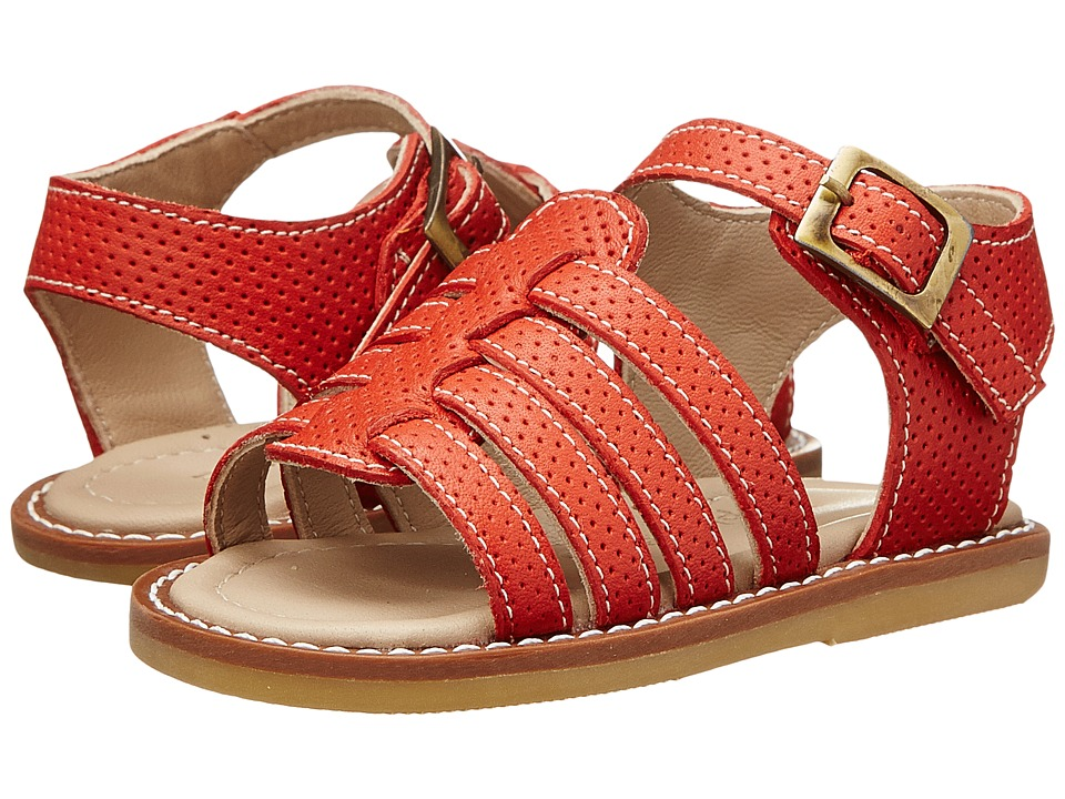 Elephantito - Nantucket Sandal (Toddler) (Ferrari Red) Girls Shoes