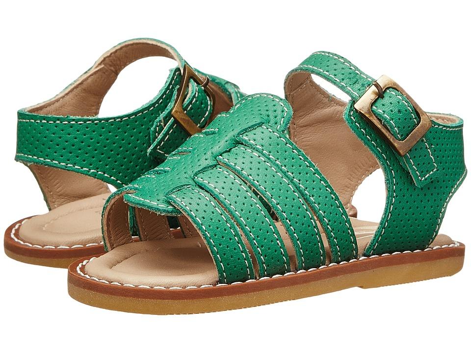 Elephantito Nantucket Sandal (Toddler) (Kelly Green) Girls Shoes