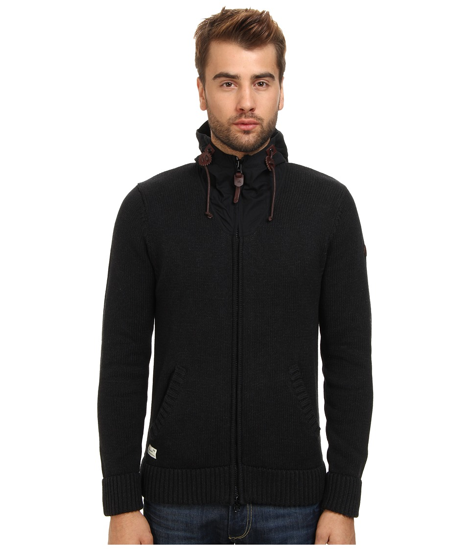 Marshall Artist - Hooded Cardigan (Black Melange) Men
