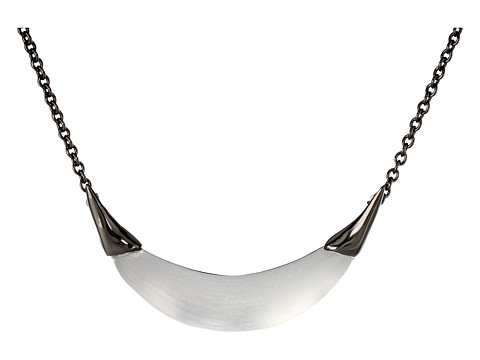 Alexis Bittar - Capped Crescent Pendant (Grey) Necklace