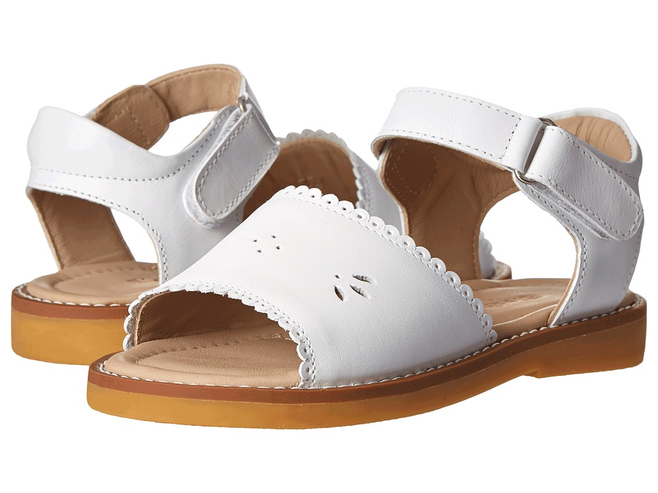 Elephantito - Classic Sandal w/ Scallop (Toddler/Little Kid) (White) Girls Shoes
