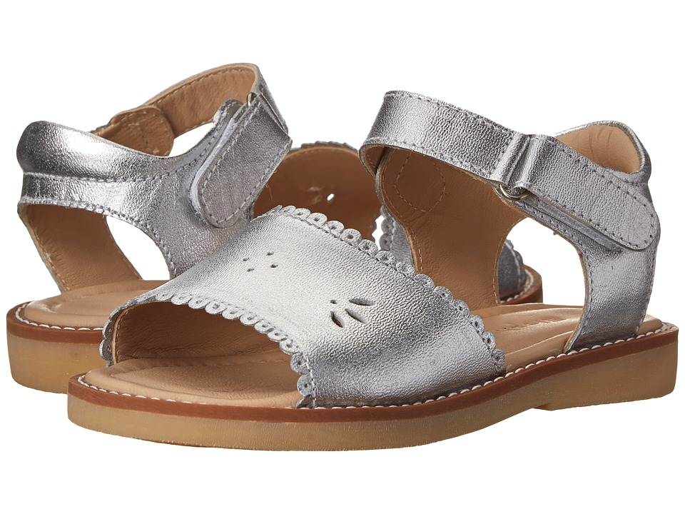 Elephantito - Classic Sandal w/ Scallop (Toddler/Little Kid) (Silver) Girls Shoes