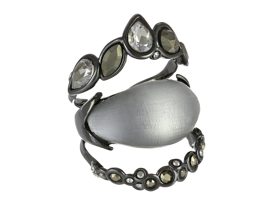 Alexis Bittar - Crystal Lace Stack Ring (Grey) Ring
