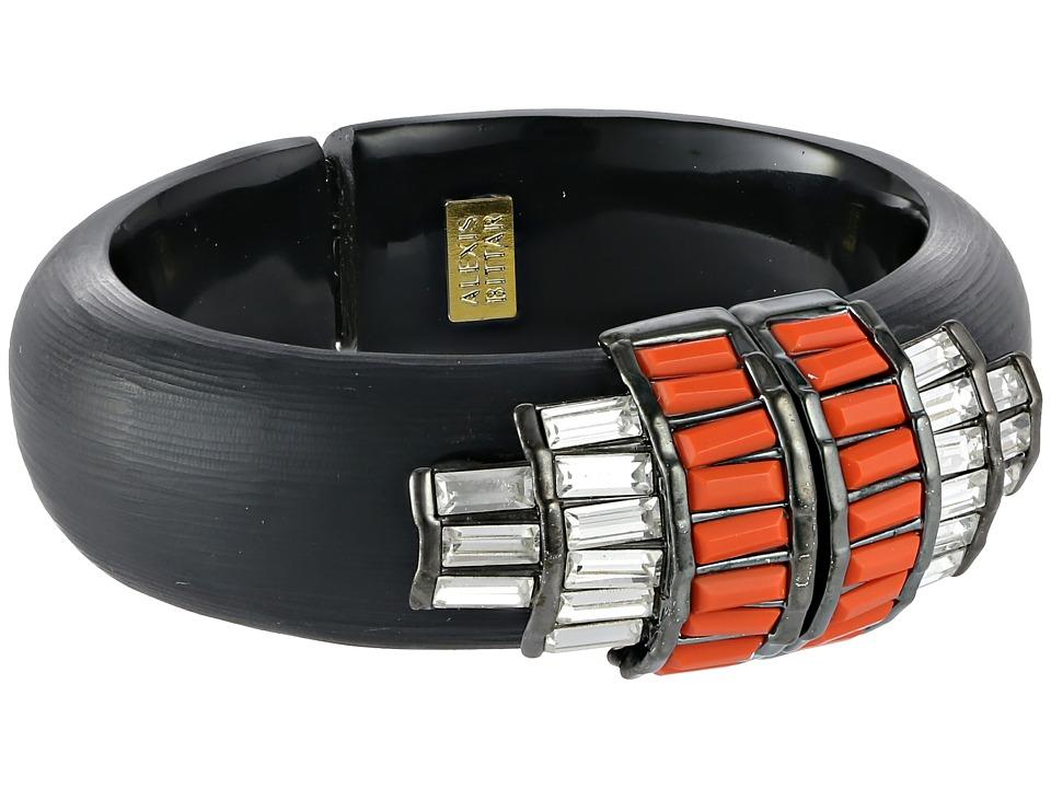 Alexis Bittar - Cubist Baguette Barrel Hinged Bracelet (Black) Bracelet