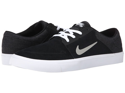 Nike SB - Portmore (Black/White/Medium Grey) Men's Skate Shoes