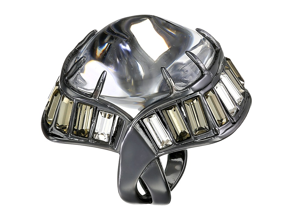 Alexis Bittar - Baguette Barrel Ring (Clear) Ring