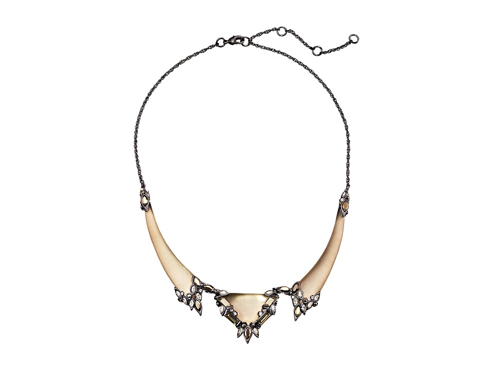 Alexis Bittar - Cubist Baguette Cluster Small Bib Necklace (Warm Grey) Necklace