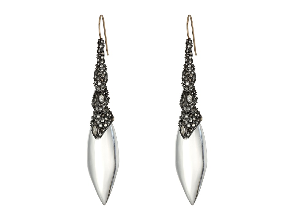 Alexis Bittar - Cubist Articulating Tear Earrings (Clear) Earring