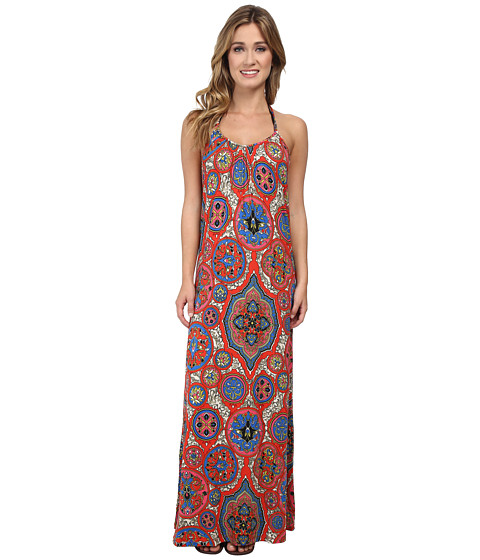 Lucky Brand - Groove Maxi Dress Cover-Up (Multi) Women's Swimwear