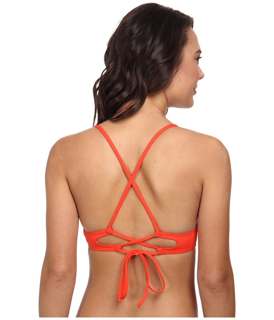 Lucky Brand - Natural Connection Cross Back Halter (Sunrise) Women's Swimwear