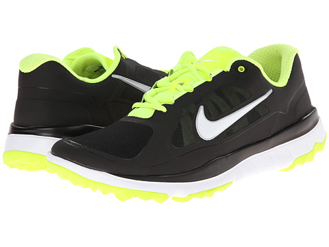 Nike Golf - FI Impact (Black/Volt/White) Men's Golf Shoes