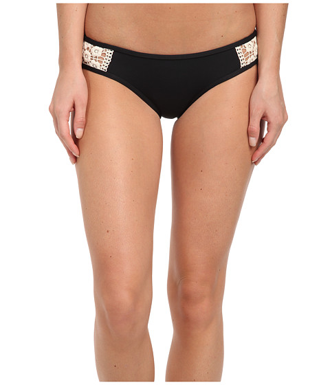 Lucky Brand - Natural Connection Hipster (Black) Women's Swimwear