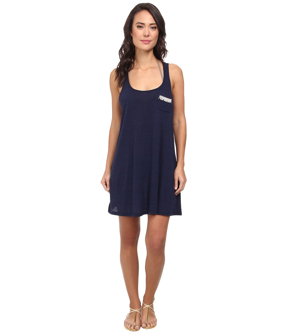 Lucky Brand - Natural Connection Dress Cover-Up (Indigo) Women's Swimwear