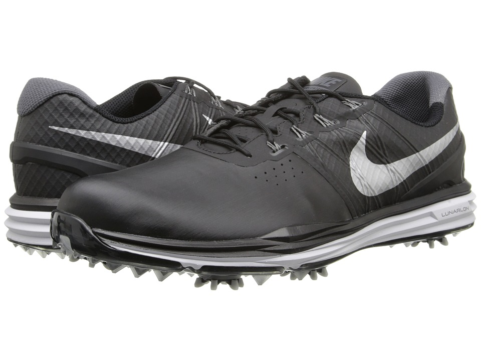 Nike Golf - Lunar Control 3 (Black/Pure Platinum/Metallic Silver) Men's Golf Shoes