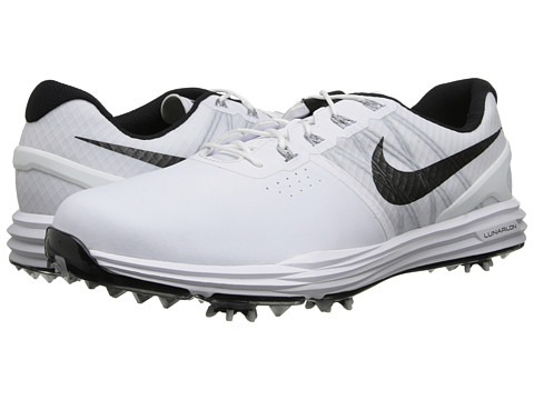 Nike Golf - Lunar Control 3 (White/Pure Platinum/Wolf Grey/Black) Men's Golf Shoes