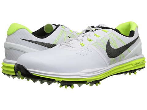Nike Golf - Lunar Control 3 (White/Volt/Black) Men's Golf Shoes