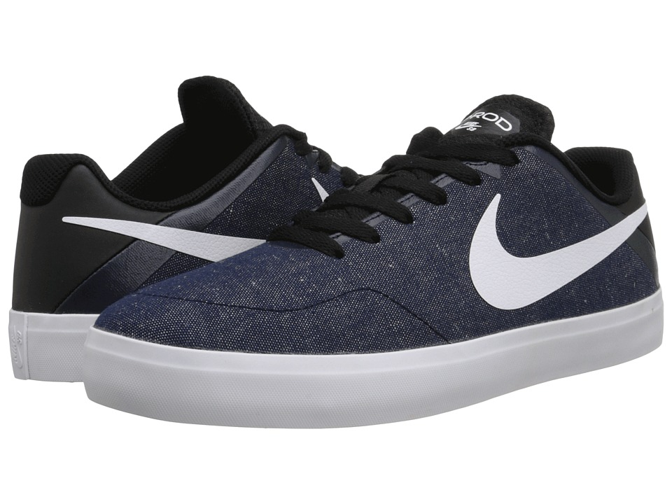 Nike SB - Paul Rodriguez CTD LR Canvas (Obsidian/Black/Black/White) Men's Skate Shoes