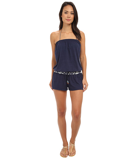 Lucky Brand - Waimea Dream Romper Cover-Up (Indigo) Women's Jumpsuit & Rompers One Piece
