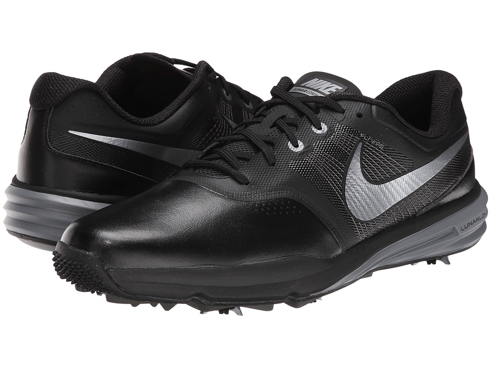 Nike Golf - Lunar Command (Black/Cool Grey/Metallic Silver) Men's Golf Shoes