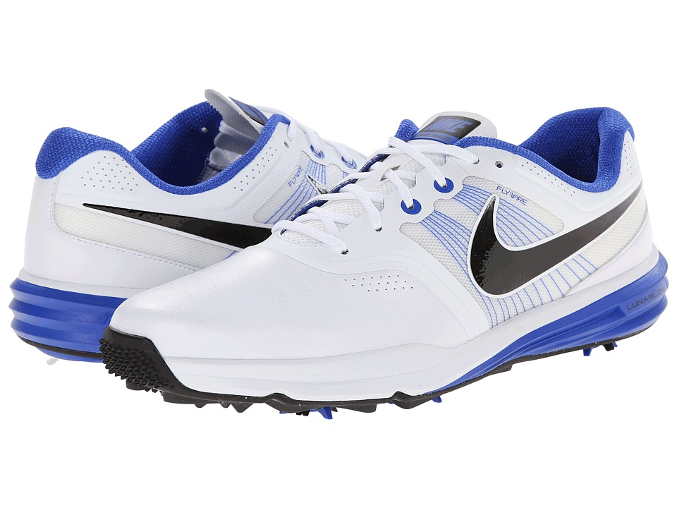 Nike Golf - Lunar Command (White/Lyon Blue/Black) Men's Golf Shoes