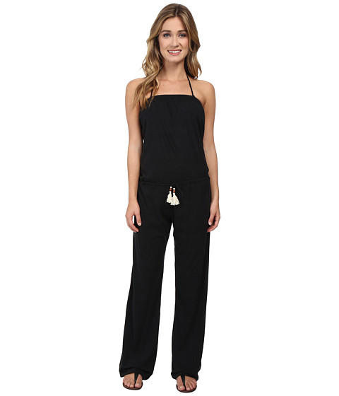 Lucky Brand - Lace It Up Jumpsuit Cover-Up (Black) Women
