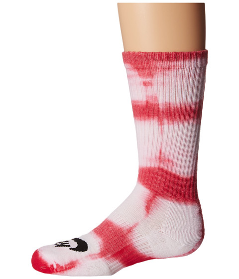 Nike SB - Tie-Dye Dri-Fit Skate Crew (White/Gym Red/Black) Crew Cut Socks Shoes