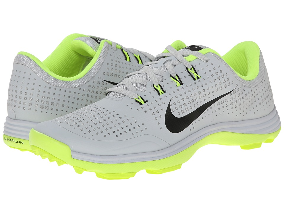 Nike Golf - Nike Lunar Cypress (Pure Platinum/Volt/Black) Men's Golf Shoes