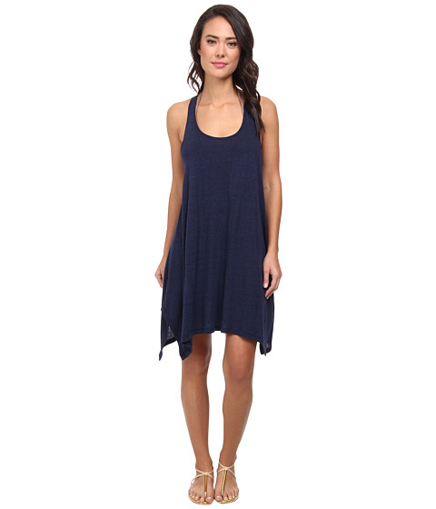 Lucky Brand - Bohemian Delight Dress Cover-Up (Indigo) Women's Swimwear
