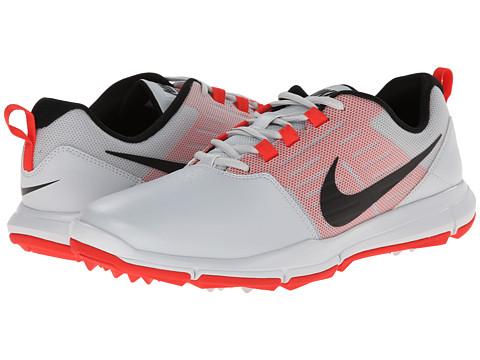 Nike Golf - Explorer SL (Pure Platinum/Daring Red/Black) Men's Golf Shoes