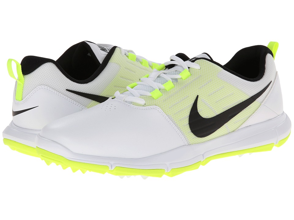 Nike Golf - Explorer SL (White/Volt/Black) Men's Golf Shoes
