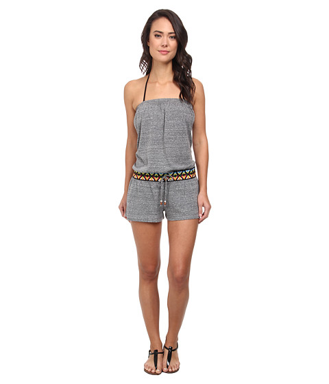 Lucky Brand - Sahara Romper Cover Up (Grey Heather) Women