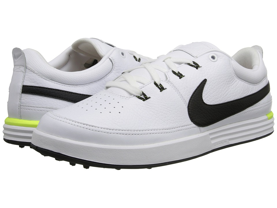 Nike Golf - Nike Lunarwaverly (White/Volt/Barely Volt/Black) Men's Golf Shoes