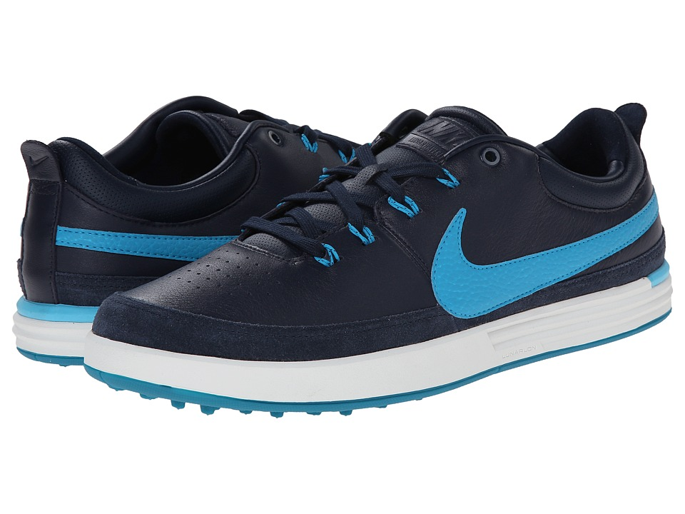 Nike Golf - Nike Lunarwaverly (Obsidian/Summit White/Clearwater/Blue Lagoon) Men's Golf Shoes