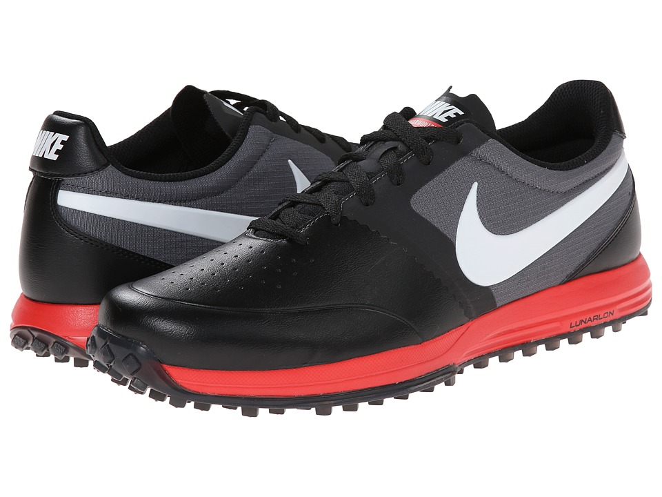 Nike Golf - Nike Lunar Mont Royal (Black/Daring Red/Dark Grey/White) Men's Golf Shoes