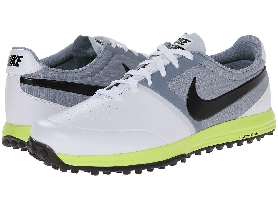 Nike Golf - Nike Lunar Mont Royal (White/Volt/Dove Grey/Black) Men's Golf Shoes