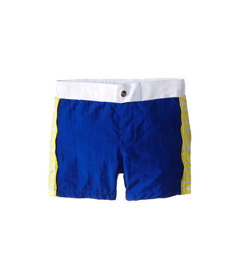 Versace Kids - Swim Shorts w/ Side Logo Print (Little Kids/Big Kids) (Blue) Boy