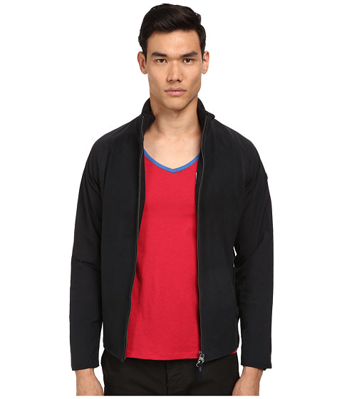 Armani Jeans - Lamb Suede and Nylon Jacket (Blue) Men