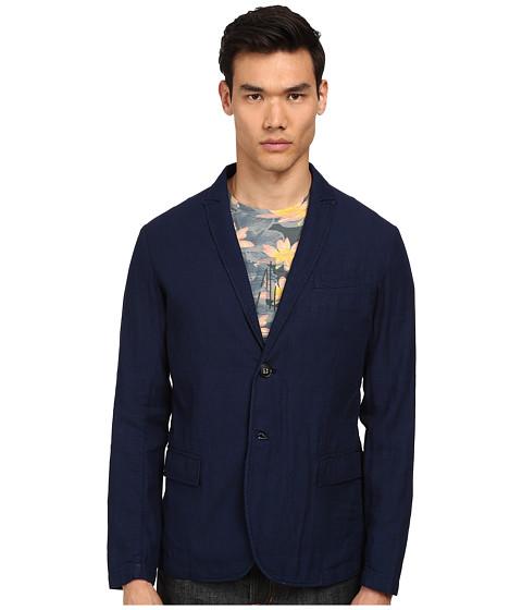 Armani Jeans - Linen Indigo Dyed Blazer (Navy) Men's Jacket